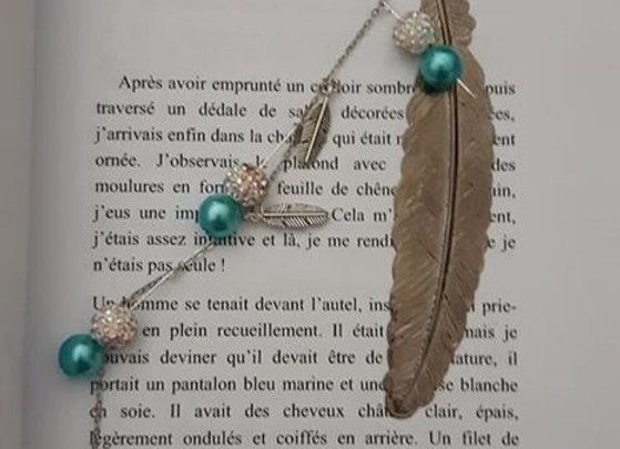 marque page bijoux argenté angel
