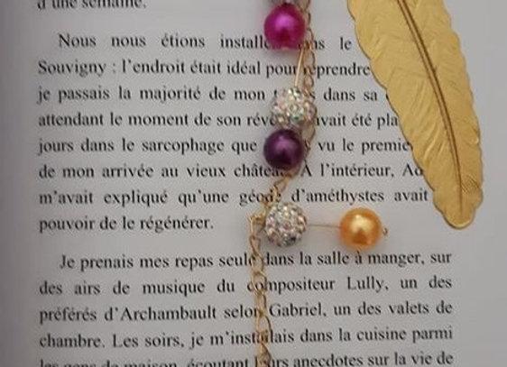marque page bijoux multi doré