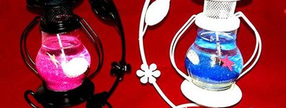 Dekoratif Gemici Feneri Kandil Jel Mumluk
