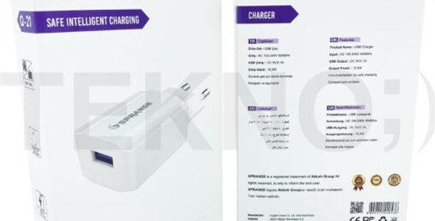 10.5W 2.1A Şarj Aleti Başlığı Sprange Q-21