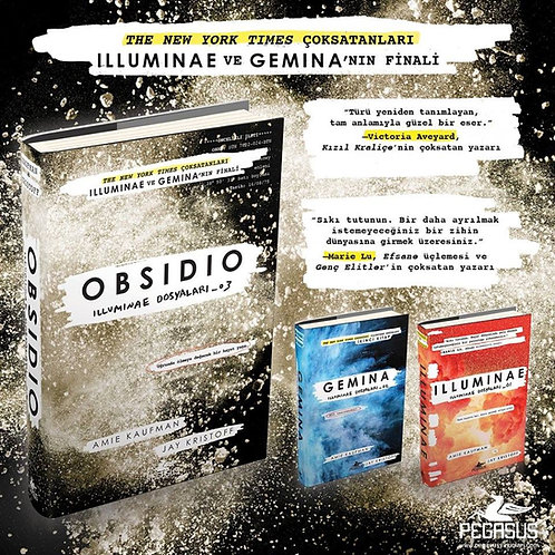 İlluminae Dosyaları Serisi Takım Set (3 Kitap) İlluminae + Gemina + Obsidio