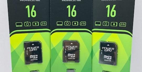16 GB Micro SD Hafıza Kartı Powerway