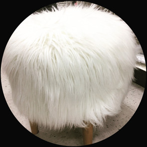 CHEAPEST FAUX FUR ACCENT STOOL