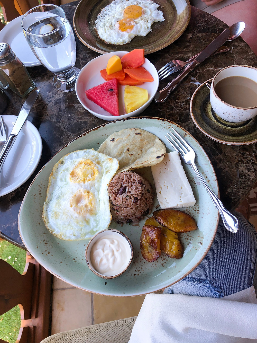 Traditional breakfast at Hotel Belmar's restaurant