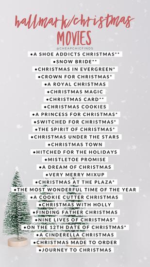 Hallmark Christmas Movies List