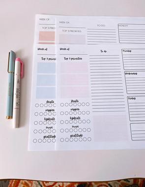 ✨Free Weekly Planner Printable!