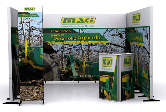 Stand centro - 3x3 mts.