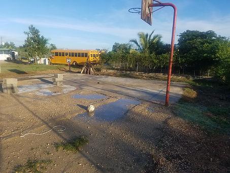Playground. Basketball field