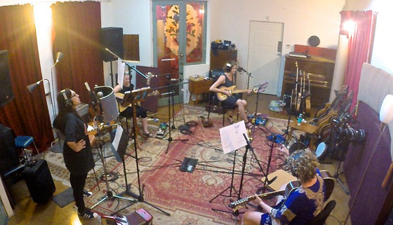 Barb Waters recording with Suzannah Espie, Kerri Simpson and Alison Ferrier