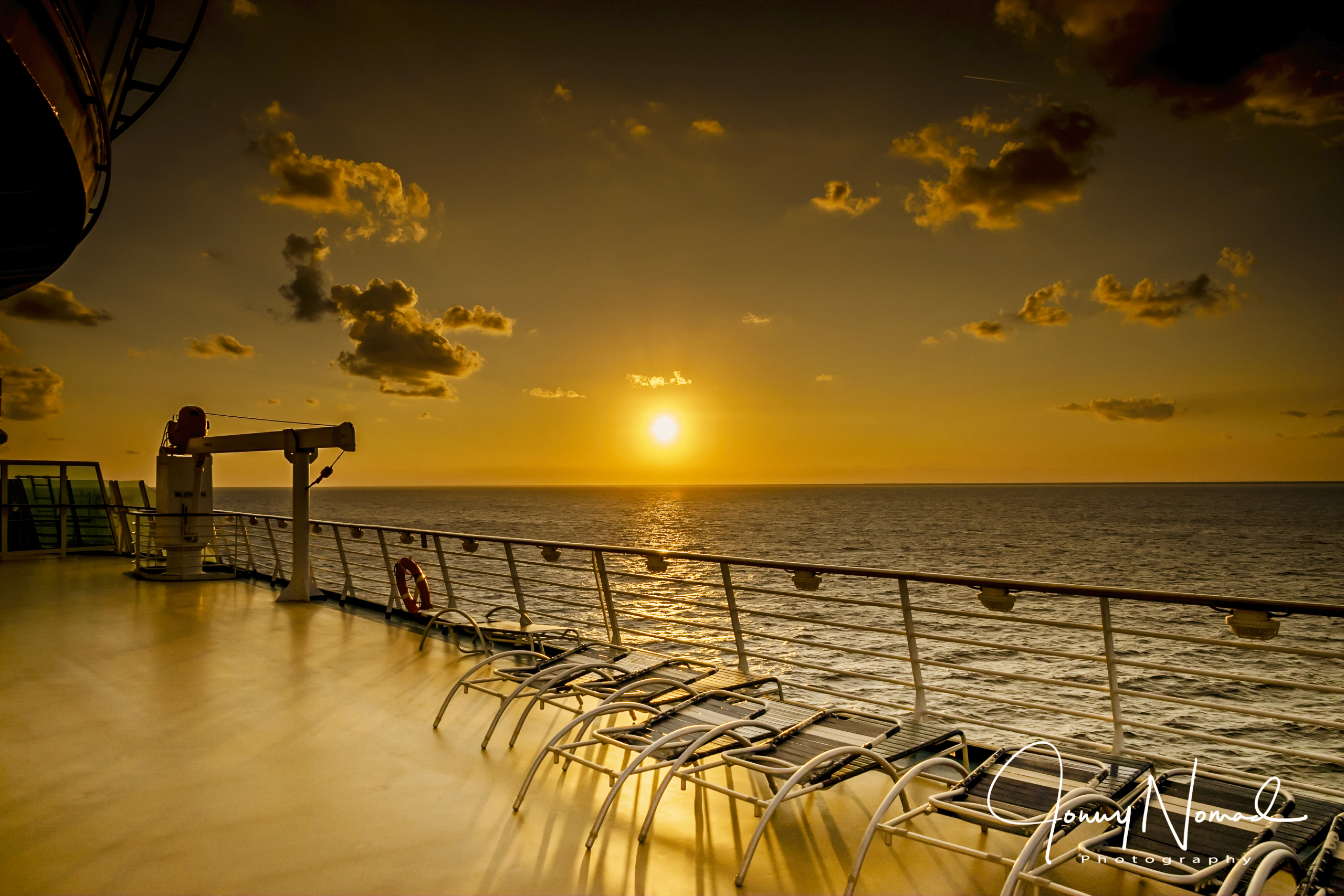 On Deck at Sunset