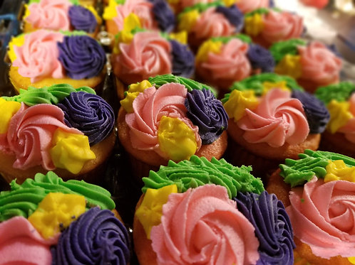 Rainbow Rosette Cupcakes
