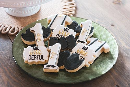Mr. Onederful Birthday Cookies