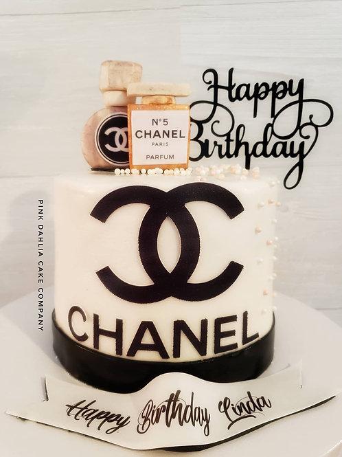 Chanel Perfume & Pearls Cake