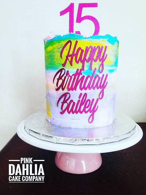 Ombré Birthday Cake