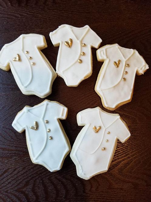Onesie Baby Shower Cookies