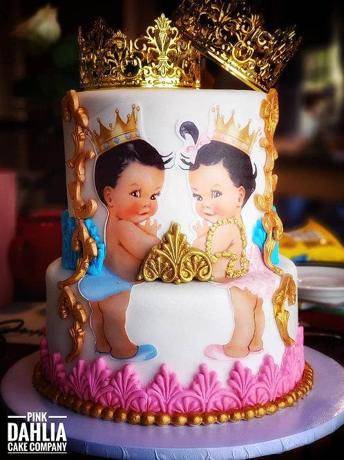 Royal Gender Reveal Cake
