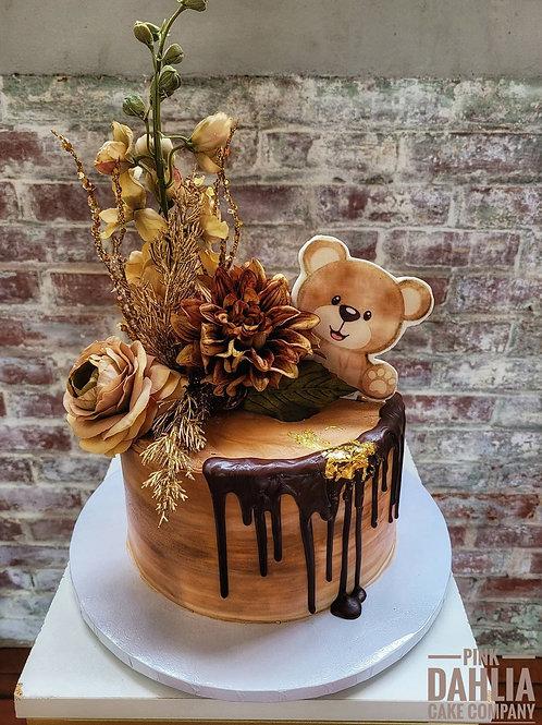 Beary Baby Shower Cake