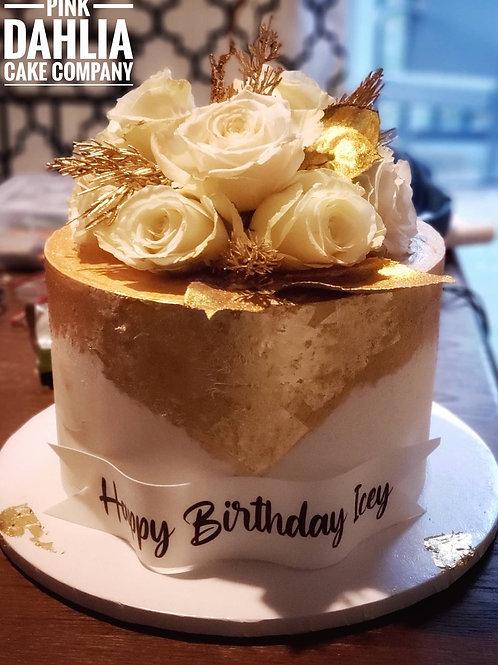 Floral Goldleaf Cake