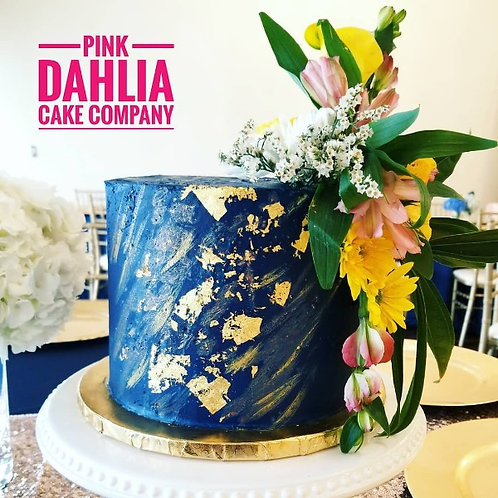 Textured Buttercream with Edible Gold & Florals