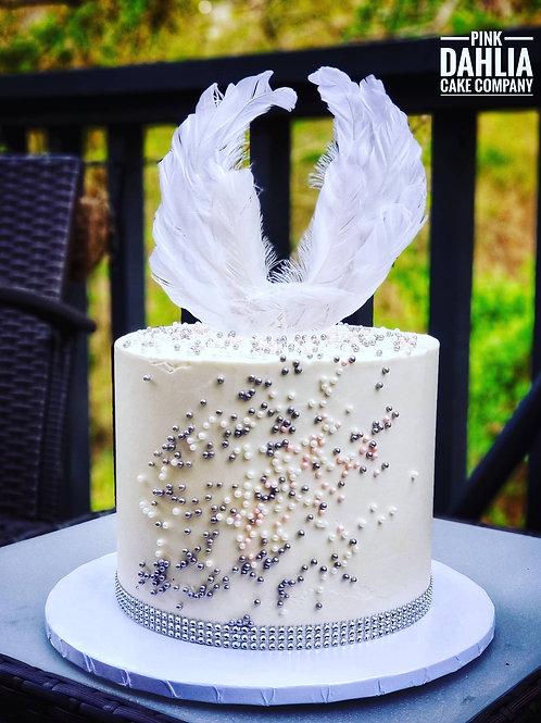 Heaven Sent Baby Shower Cake