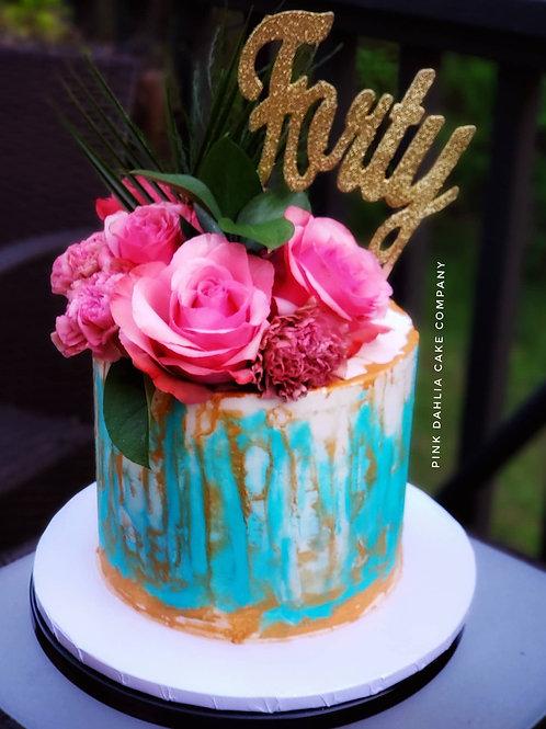 Watercolored Buttercream & Florals