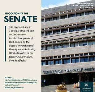 Relocation of Senate