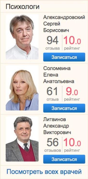 рейтинг психологов на Docdoc