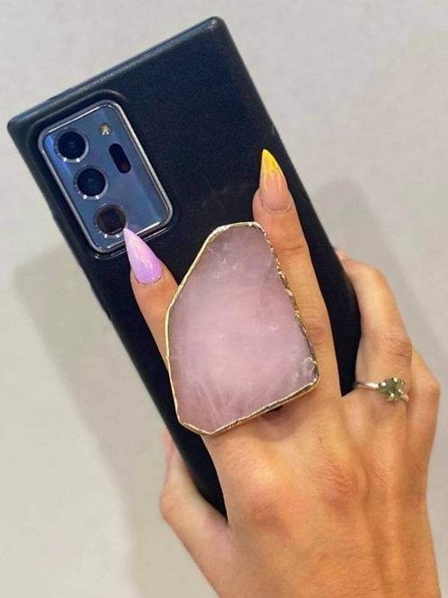Phone Pop - Rose Quartz Slab