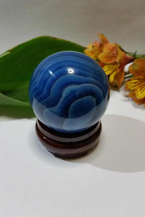 60mm Blue Agate Sphere