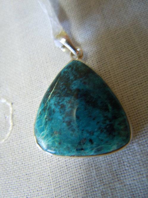 Shattuckite with Chrysocolla Pendant