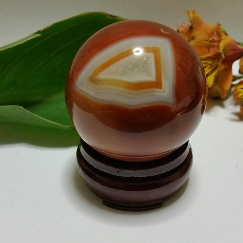 60mm Orange Agate Sphere