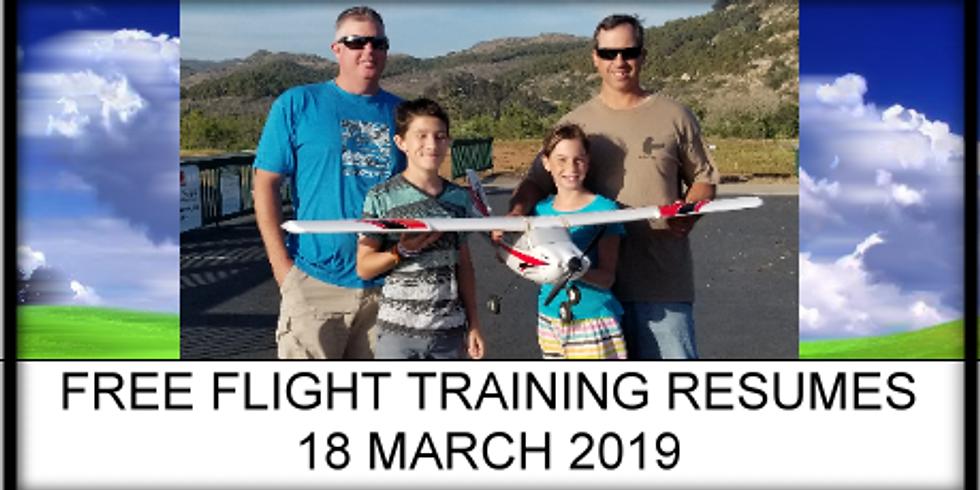 Free Flight Training resumes!
