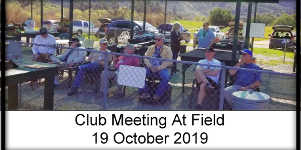 Club Meeting at field!