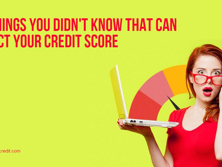 🧐😱10 THINGS YOU DIDN'T KNOW THAT CAN AFFECT YOUR CREDIT SCORE 🧐😱