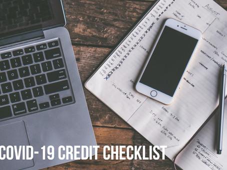 【COVID-19 Credit Checklist】✍️📋