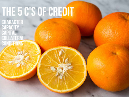 "🖐🖐🖐The 5 ""C's of credit. 🖐🖐🖐"