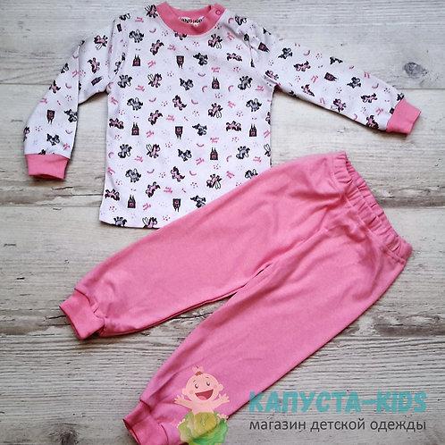 Пижама для девочки (кофта+брюки) SHISHCO (1-2-3-4)