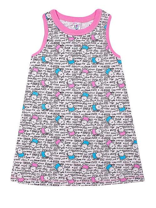 Платье детское для девочки, цвет белый, с принтом