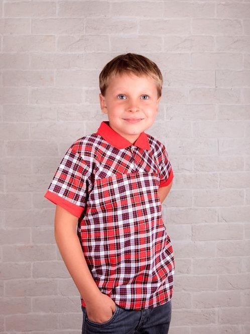 Нарядная рубашка с короткими рукавами