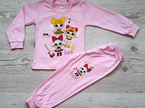 Пижама для девочки (кофта+брюки) УЗБЕКИСТАН (2-3-4-5-6)