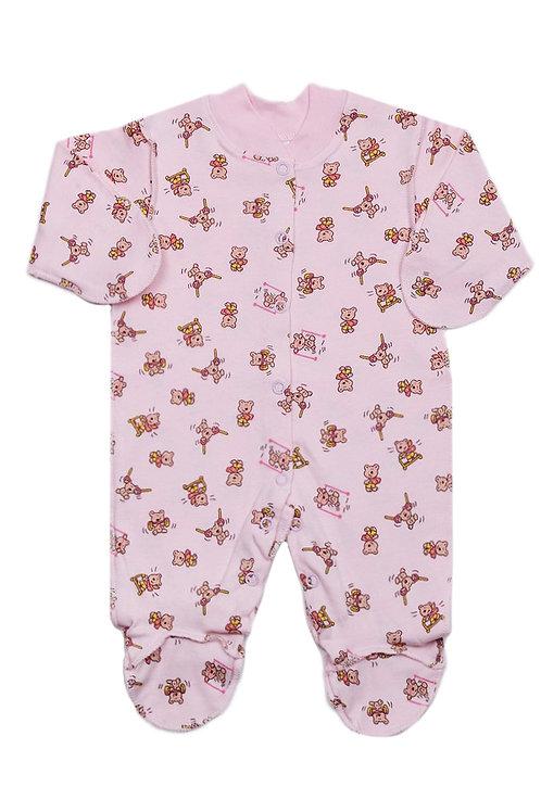 Комбинезон детский, цвет розовый, с принтом