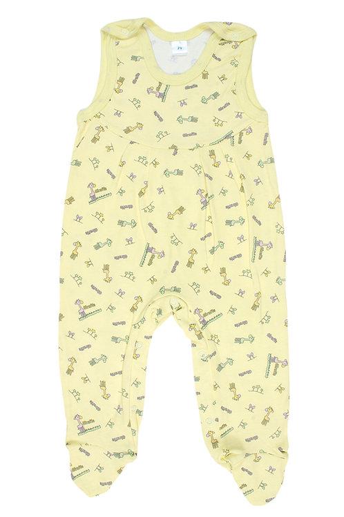 Ползунки детские, цвет жёлтый, с принтом