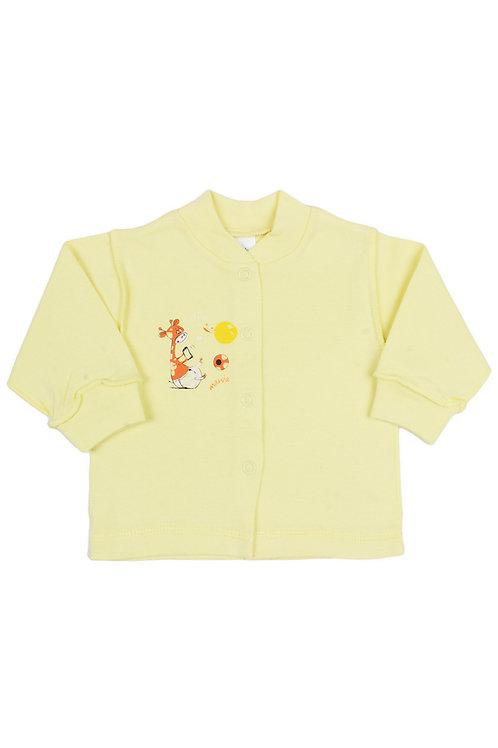 Кофточка детская, цвет жёлтый, с принтом