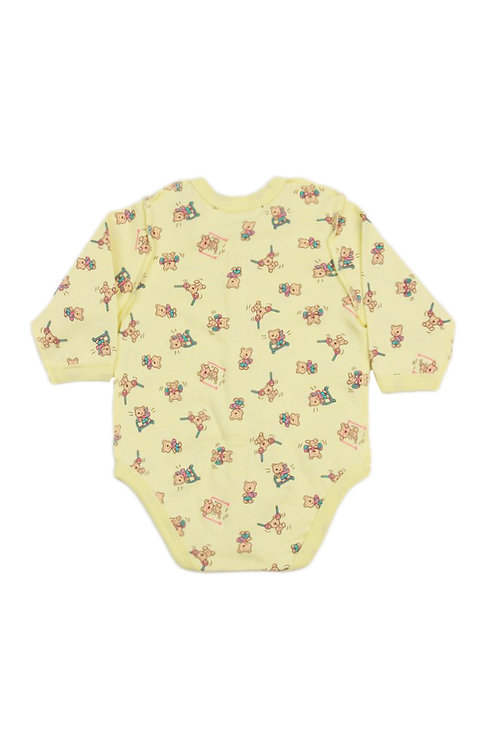 Боди детское, цвет жёлтый, с принтом