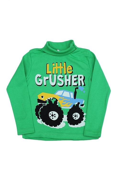 Водолазка для мальчика, цвет зелёный, с принтом