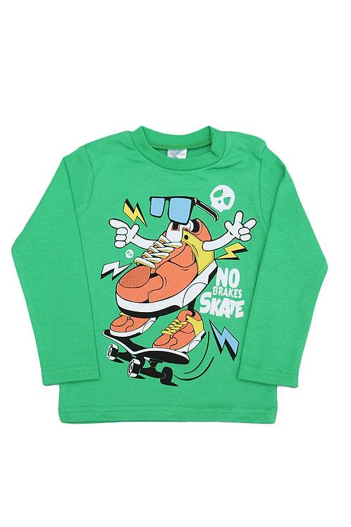 Джемпер для мальчика, цвет зелёный, с принтом