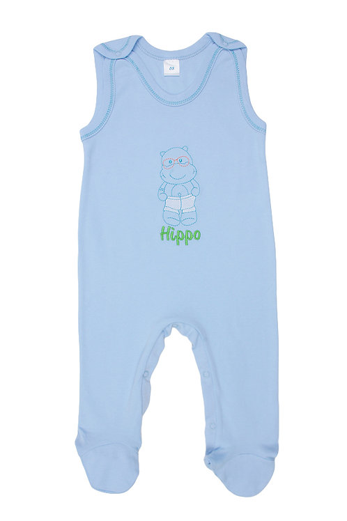 Полукомбинезон детский, цвет голубой, с принтом