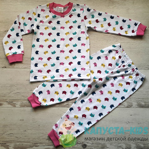 Пижама для девочки (кофта+брюки) с начесом УЗБЕКИСТАН (3-4-5-6-7)