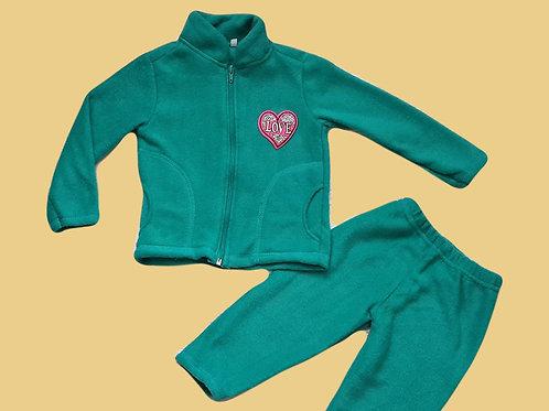 Теплый костюм (флис) для девочки