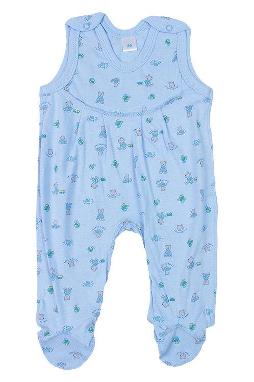 Ползунки детские, цвет голубой с принтом
